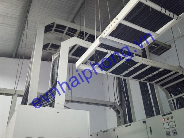 Thi công lắp đặt thang máng cáp điện