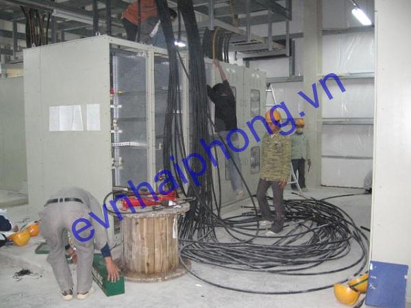Thi công lắp đặt cáp điện nhà xưởng
