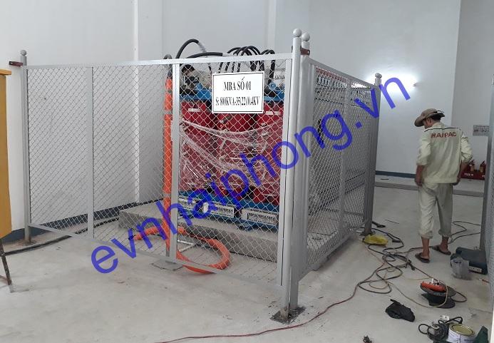 Trạm biến áp 800KVA và cáp ngầm 24KV-Khu CN An Dương