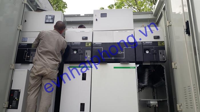 Trạm biến áp 750KVA và cáp ngầm 22KV công ty DONGYANG, KCN Tràng Duệ