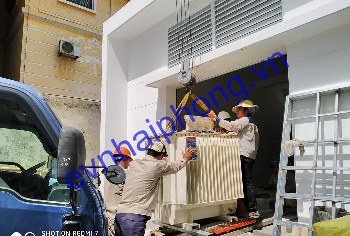 Trạm biến áp 500KVA và cáp ngầm 24kv-Sở cảnh sát PCCC Hải Phòng