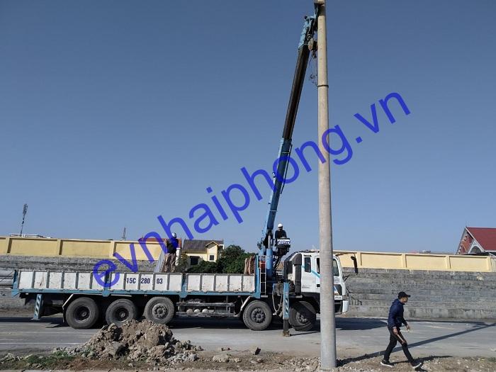 Hải Phong cung cấp cột điện bê tông cho các dự án