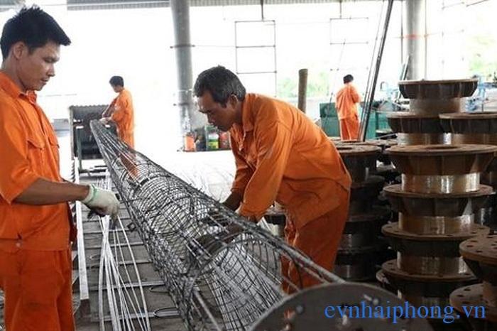 Quá trình sản xuất cột điện bê tông dự ứng lực